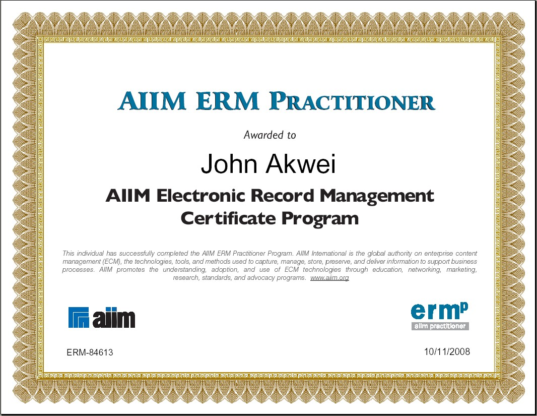 ERM Practitioner Certificate